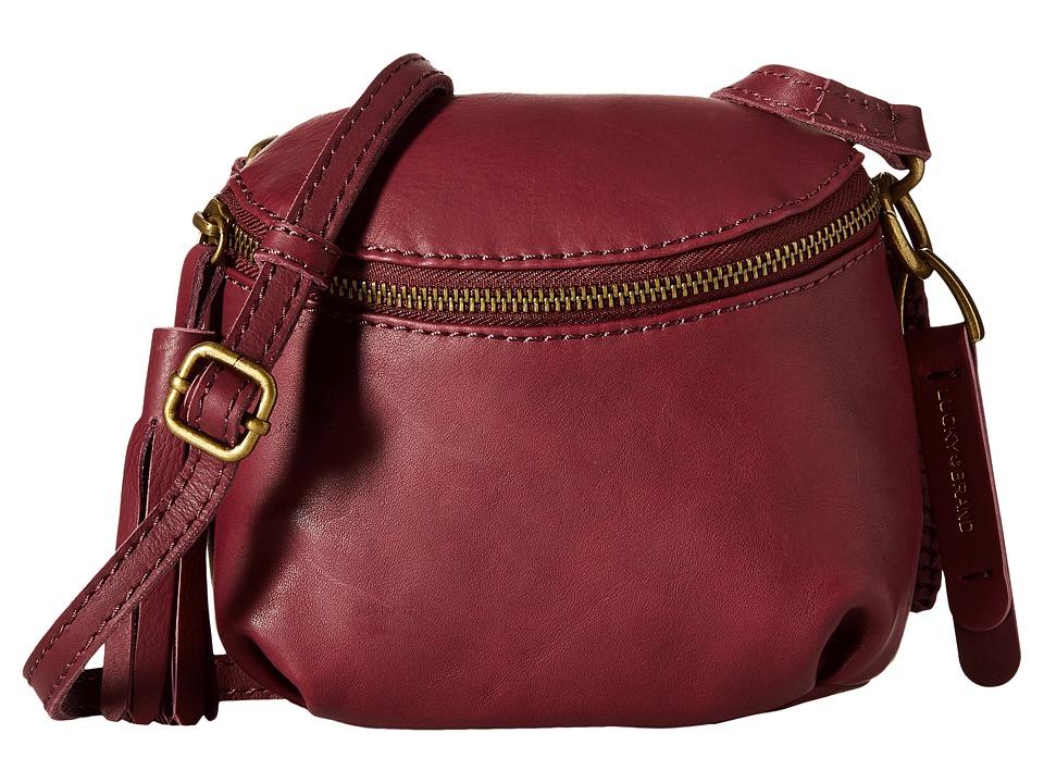 Lucky Brand - Harper Baby Crossbody (Merlot) Cross Body Handbags