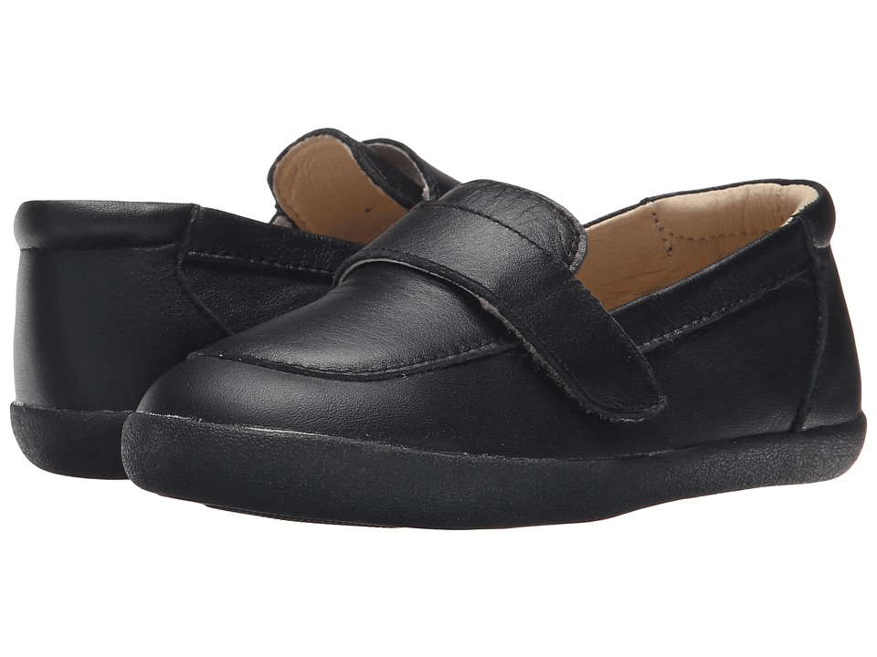 Old Soles - Business Loafer (Toddler/Little Kid) (Black) Boy's Shoes