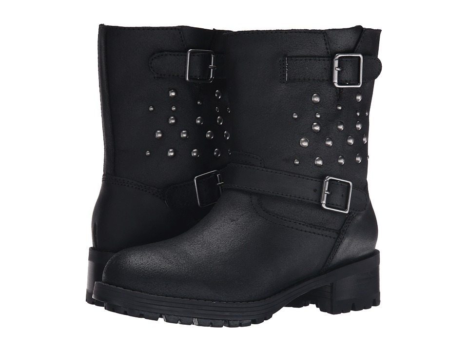 Polo Ralph Lauren Kids - Biker Boot (Little Kid) (Black Leather) Boys Shoes