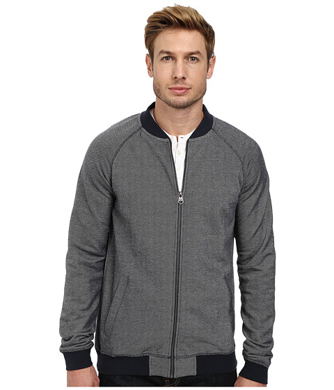 Lindbergh - Sweat Cardigan (Dark Blue) Men's Sweater