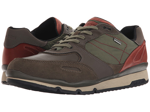 Geox - MSANDROBABX1 (Olive/Dark Red) Men's Shoes