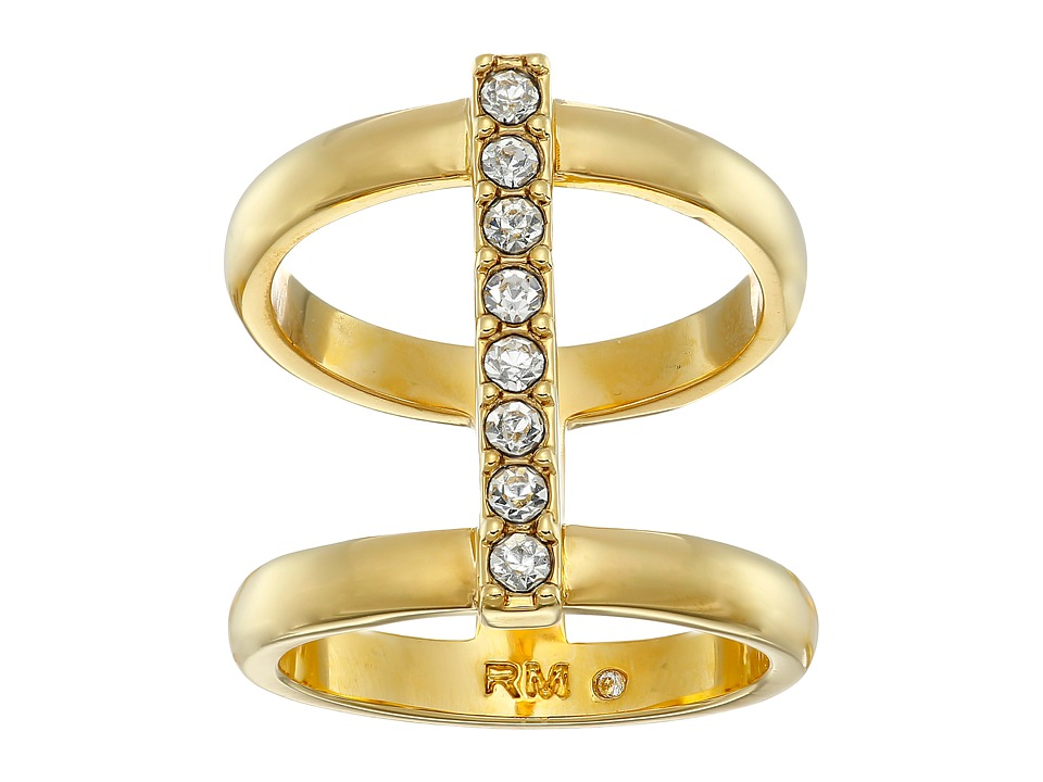 Rebecca Minkoff - Bar Ring (Gold Toned/Crystal) Ring