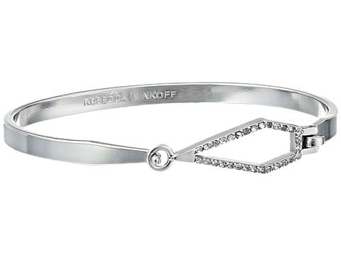 Rebecca Minkoff - Open Blade Bangle Bracelet (Imitation Rhodium/Crystal) Bracelet