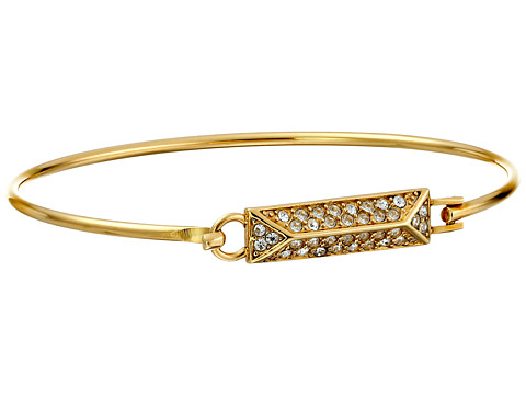 Rebecca Minkoff - Pave Rectangle Bangle Bracelet (Gold Toned/Crystal) Bracelet