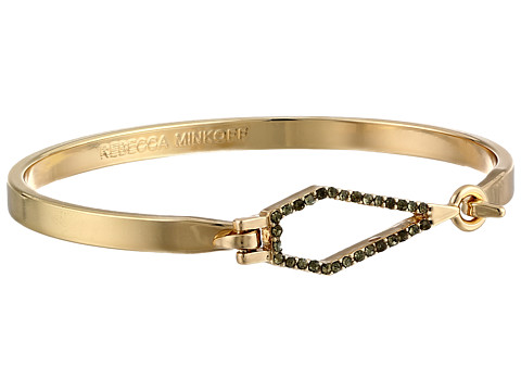 Rebecca Minkoff - Open Blade Bangle Bracelet (Gold Toned/Crystal) Bracelet