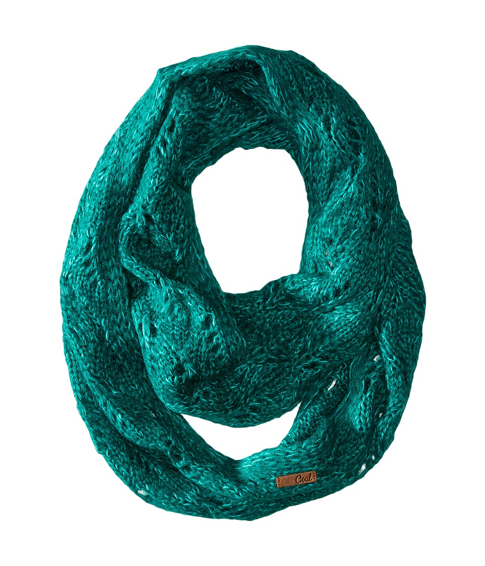 Coal - The Madison Scarf (Jewel Green) Scarves