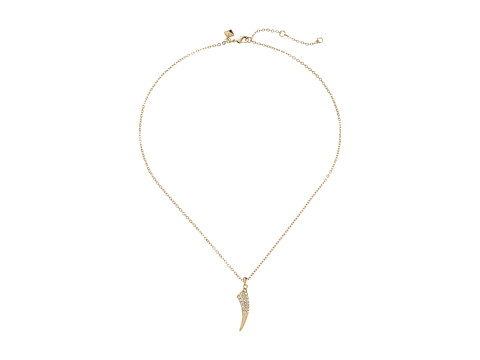 Rebecca Minkoff - Small Tusk Pendant Necklace (Gold Toned/Crystal) Necklace