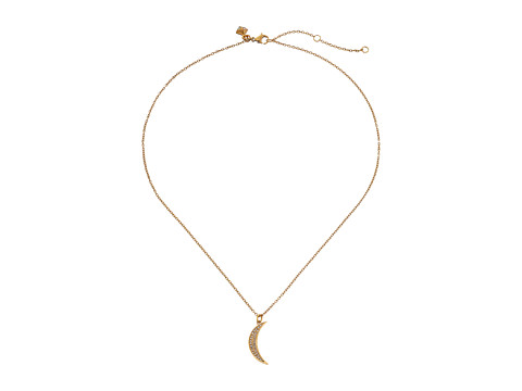 Rebecca Minkoff - Half Moon Pendant Necklace (Gold Toned/Crystal) Necklace