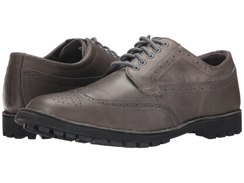 Sebago - Metcalf Wing Tip (Grey Leather) Men's Lace Up Wing Tip Shoes