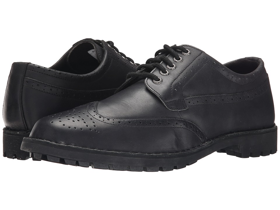 Sebago - Metcalf Wing Tip (Black Leather) Men's Lace Up Wing Tip Shoes