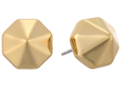 Rebecca Minkoff - Pyramid Stud Earrings (Gold Toned) Earring