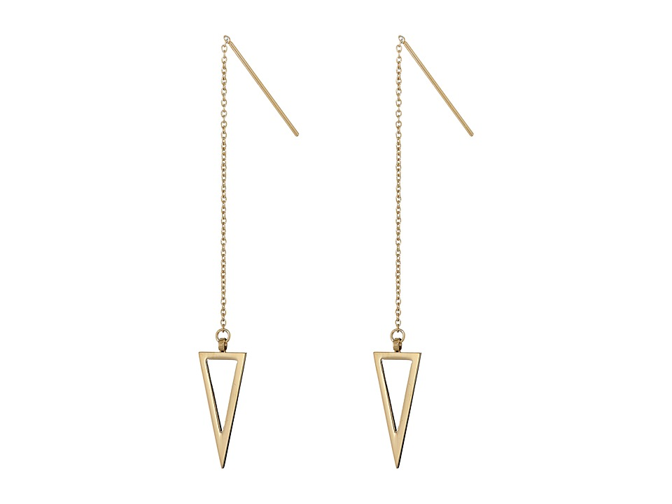 Rebecca Minkoff - Triangle Threader Earrings (Gold Toned) Earring