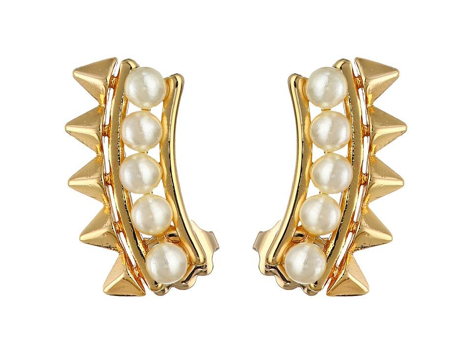 Rebecca Minkoff - Pearl Cuff Earrings (Gold Toned/Pearl) Earring