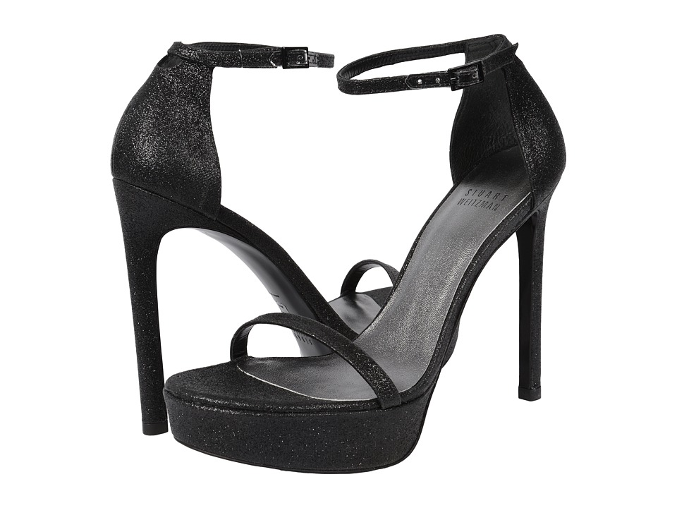 Stuart Weitzman Bridal & Evening Collection - Nudistplatform (Black Mini Glitter) Women's Shoes