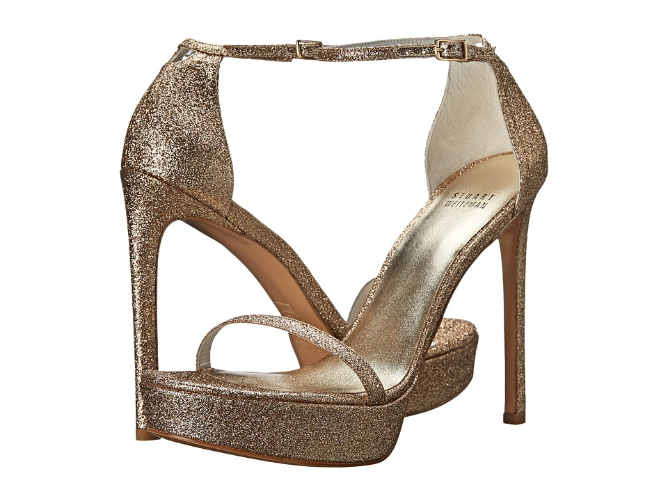 Stuart Weitzman Bridal & Evening Collection Nudistplatform (Sand Mini Glitter) Women