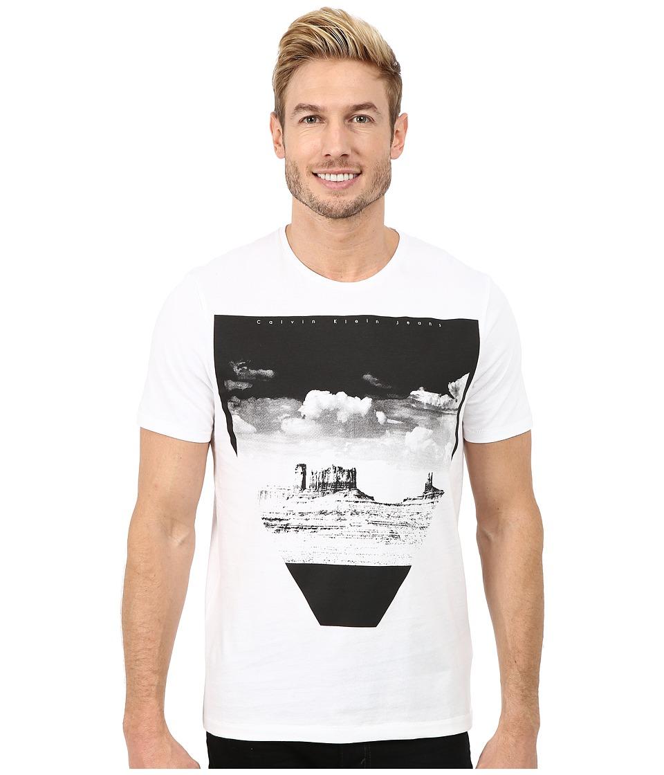 Calvin Klein Jeans - Desert Scene Logo Crew Tee (White) Men