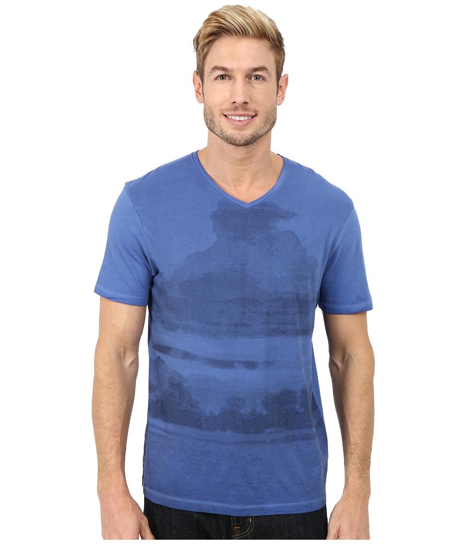 Calvin Klein Jeans - Clouded Horizon V-Neck Tee (Soft Sky) Men's T Shirt