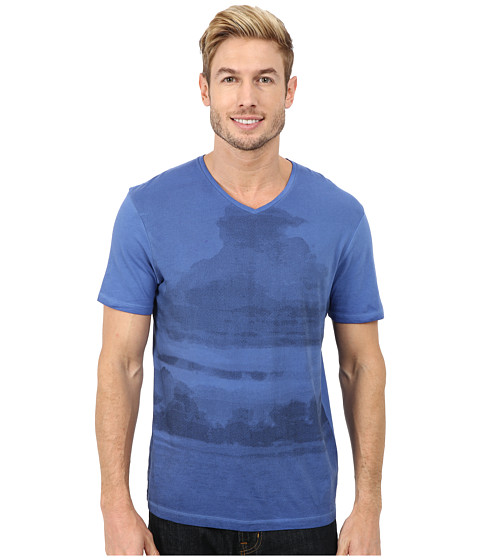 Calvin Klein Jeans - Clouded Horizon V-Neck Tee (Soft Sky) Men