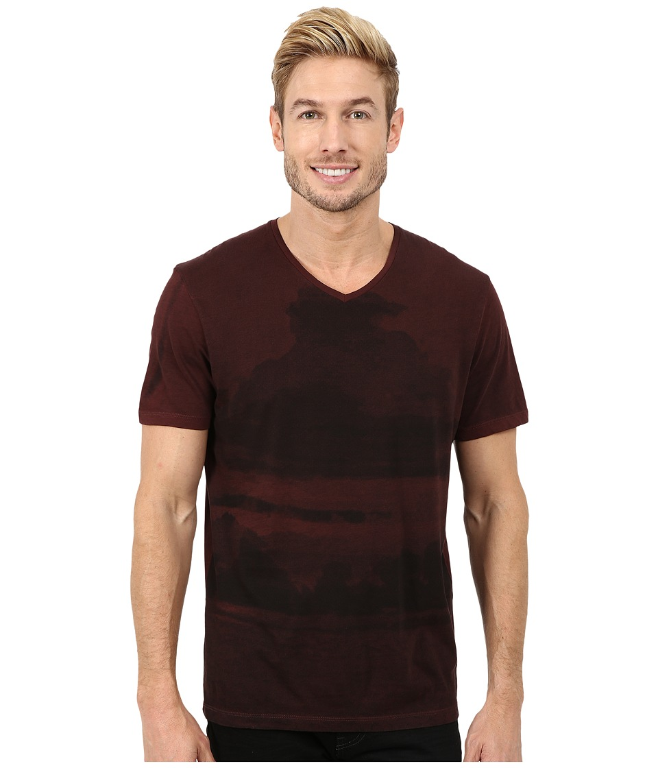 Calvin Klein Jeans - Clouded Horizon V-Neck Tee (Rugby Red) Men