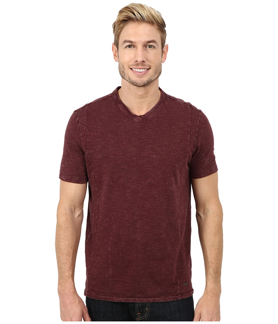 Calvin Klein Jeans - Short Sleeve Wash Story V-Neck (Rugby Red) Men