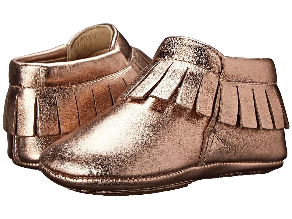 Old Soles - Fringe Boot (Infant/Toddler) (Copper) Girls Shoes