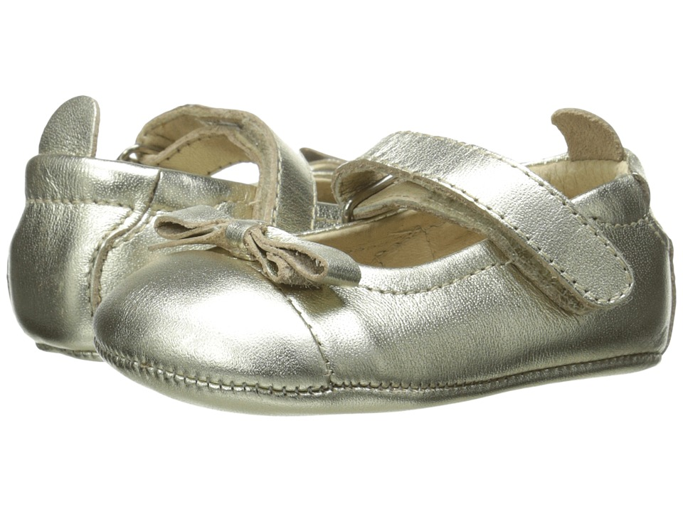 Old Soles - Sista Bow (Infant/Toddler) (Gold) Girl's Shoes