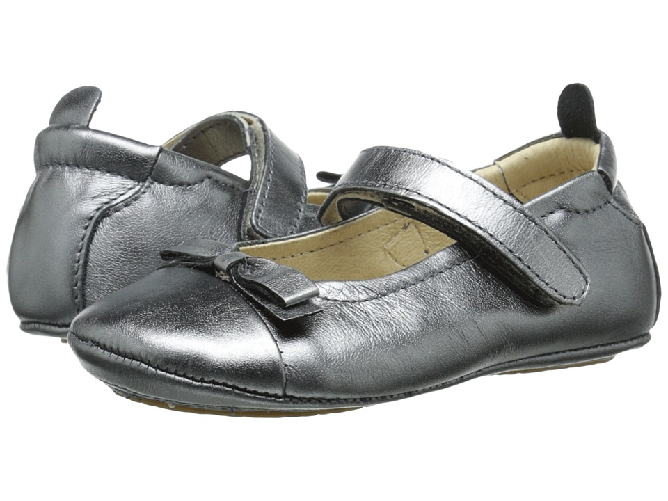 Old Soles - Sista Bow (Infant/Toddler) (Rich Silver) Girl's Shoes