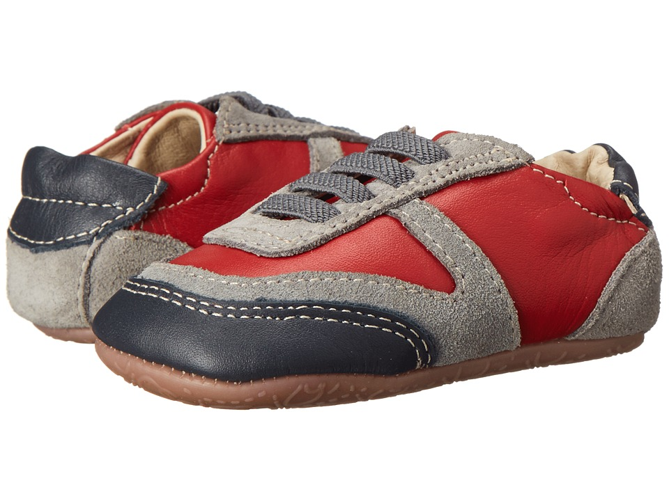 Old Soles - Street Jogger (Infant/Toddler) (Red/Navy/Grey) Boys Shoes