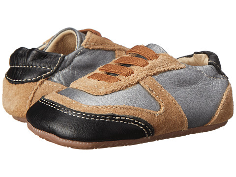 Old Soles - Street Jogger (Infant/Toddler) (Slate/Black/Tan) Boys Shoes