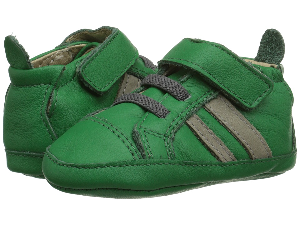Old Soles - High Roller Shoe (Infant/Toddler) (Green/Elephant Grey) Boy's Shoes