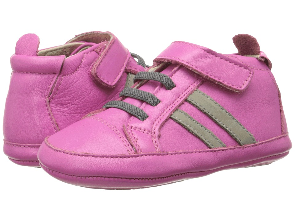 Old Soles - High Roller Shoe (Infant/Toddler) (Fuchsia/Elephant Grey) Boy's Shoes