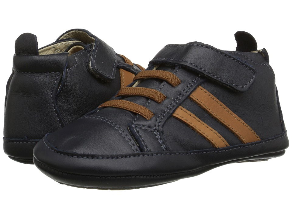 Old Soles - High Roller Shoe (Infant/Toddler) (Navy/Tan) Boy's Shoes