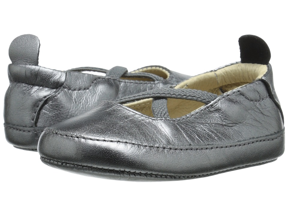 Old Soles - Ballet Cross (Infant/Toddler) (Rich Silver) Girl's Shoes
