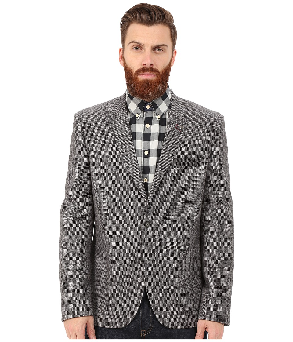 Lindbergh - Wool Blazer (Grey) Men's Jacket