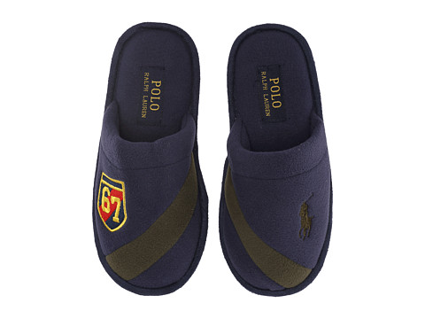 Polo Ralph Lauren Kids - Rugby Crest Scuff (Big Kid) (Navy Fleece/Green) Boy