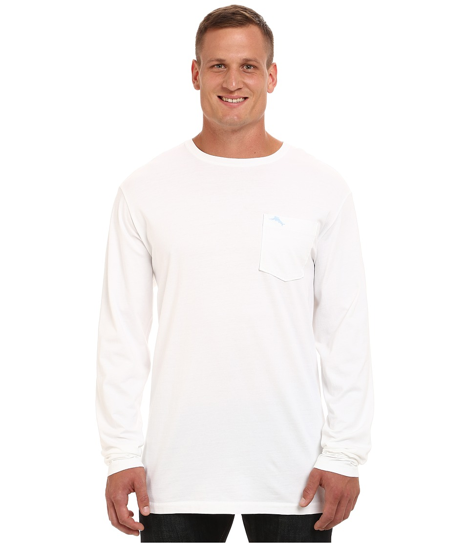 Tommy Bahama Big & Tall - Big Tall Bali Sky Tee Long Sleeve (White) Men's T Shirt