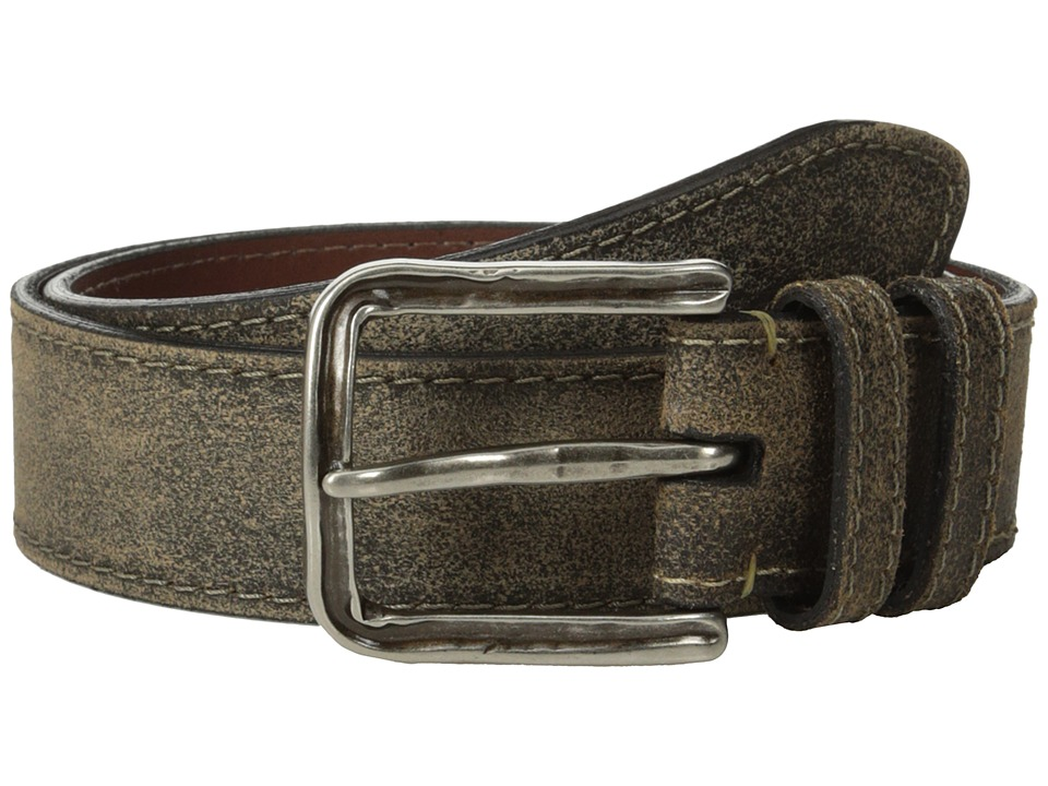 Torino Leather Co. 40mm Sanded Harness Leather w/ Old Nickel Buckle (Moss) Men