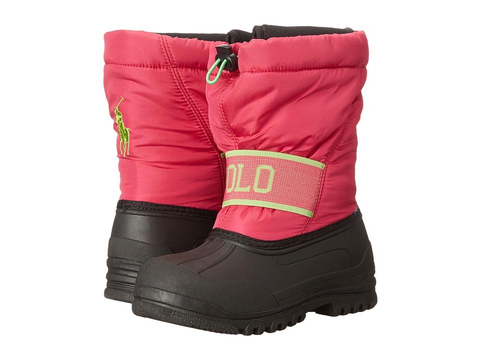 Polo Ralph Lauren Kids - Jakson (Little Kid) (Active Pink Nylon/Lime) Kids Shoes