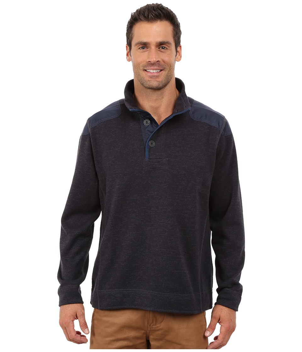 Tommy Bahama - Maritime Half Button (Dark Navy) Men's Sweatshirt