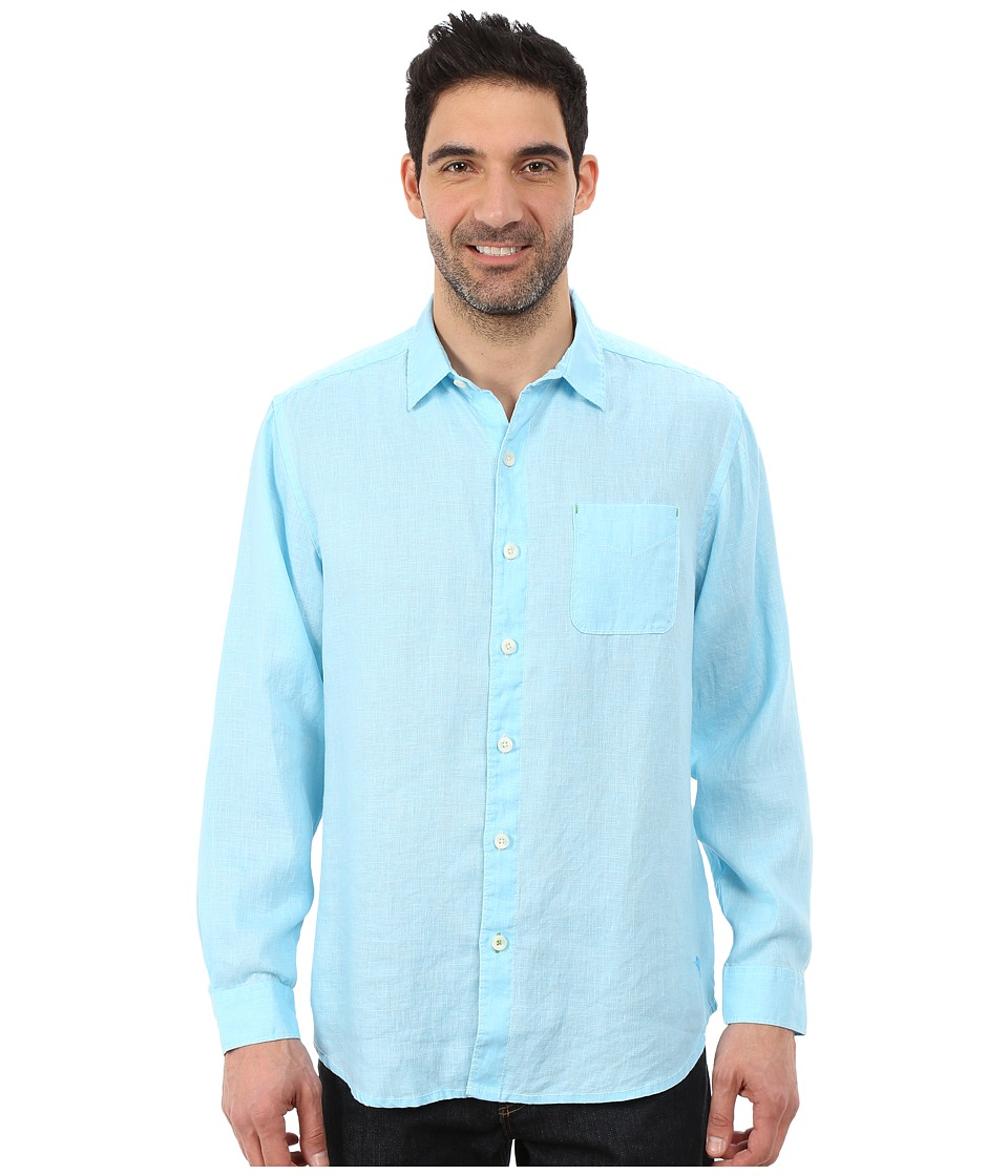 Tommy Bahama - Sea Glass Breezer Long Sleeve Shirt (Dark Tile) Men's Long Sleeve Button Up