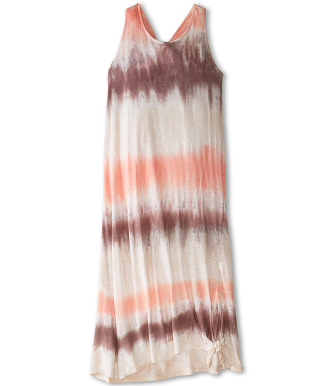 Young Fabulous & Broke Mini - Knotted Maxi (Little Kids/Big Kids) (Coral/Mocha Drizzle Wash) Girl