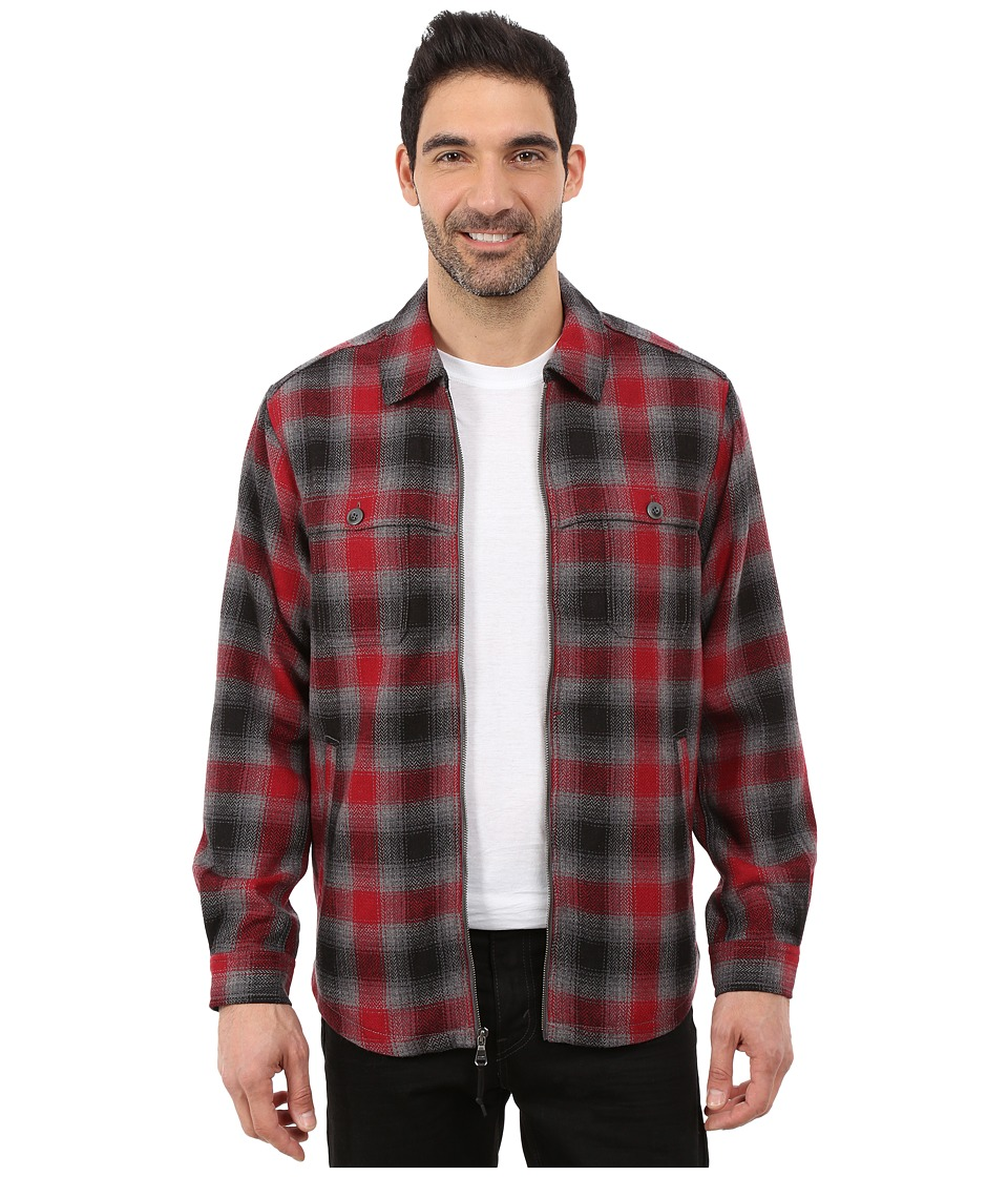 Tommy Bahama - Fireside Plaid (Cadmium) Men's Coat