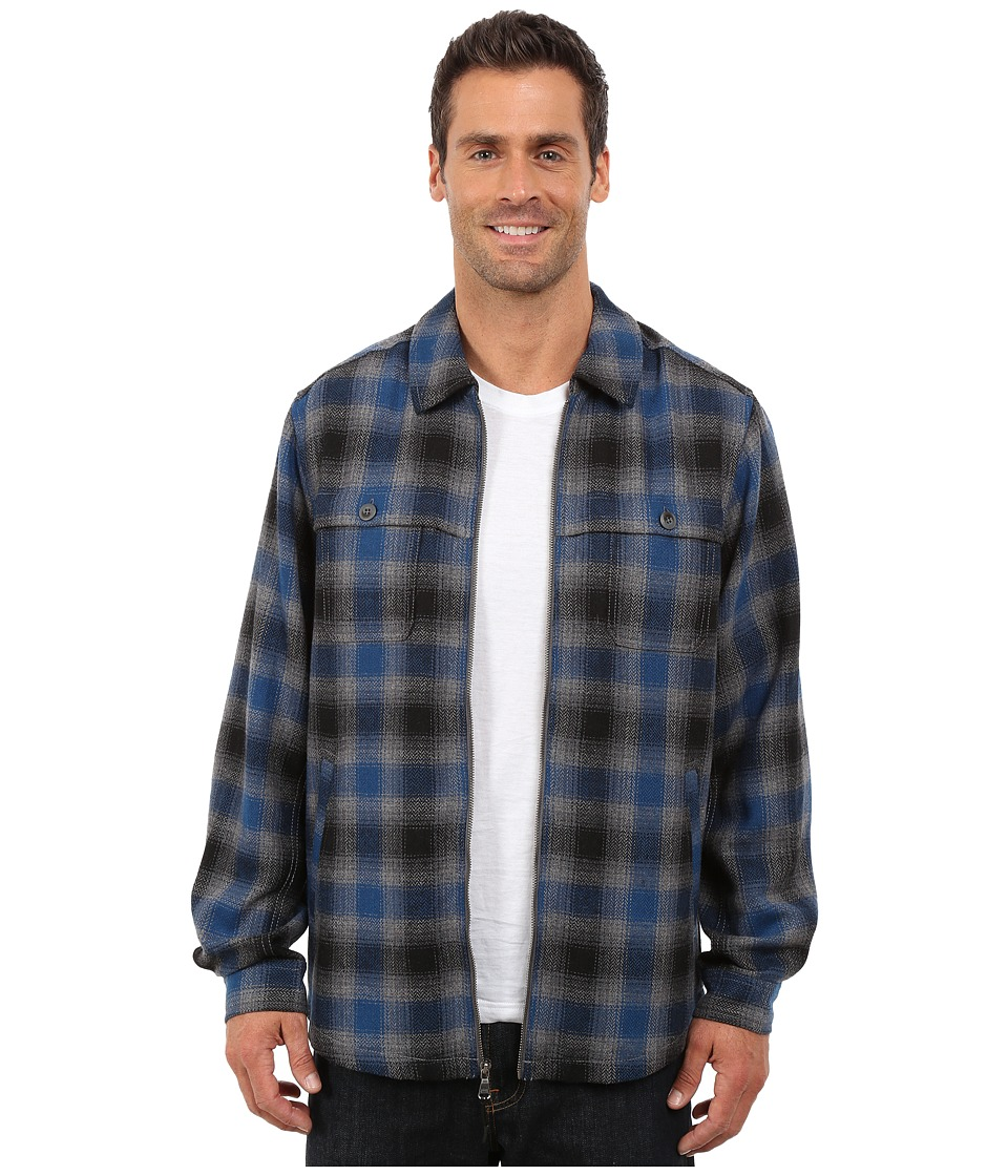 Tommy Bahama - Fireside Plaid (Deep Sterling) Men's Coat