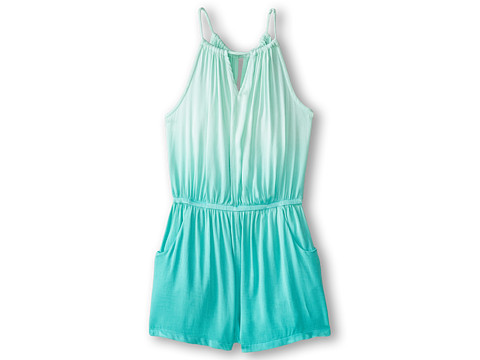 Young Fabulous & Broke Mini - Kellen Romper (Little Kids/Big Kids) (Turquoise Ombre) Girl