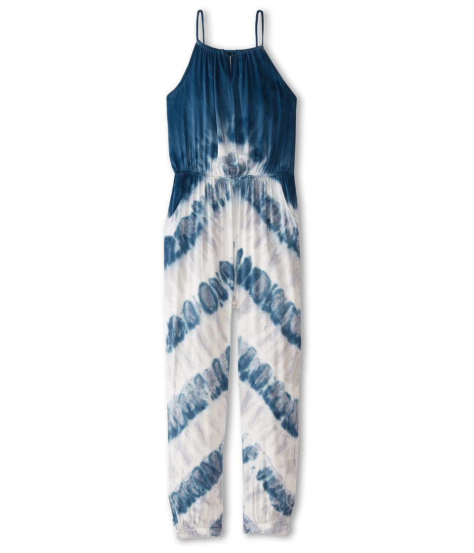 Young Fabulous & Broke Mini - Kellen Jumpsuit (Little Kids/Big Kids) (Cobalt Chevron Stripe) Girl's Jumpsuit & Rompers One Piece