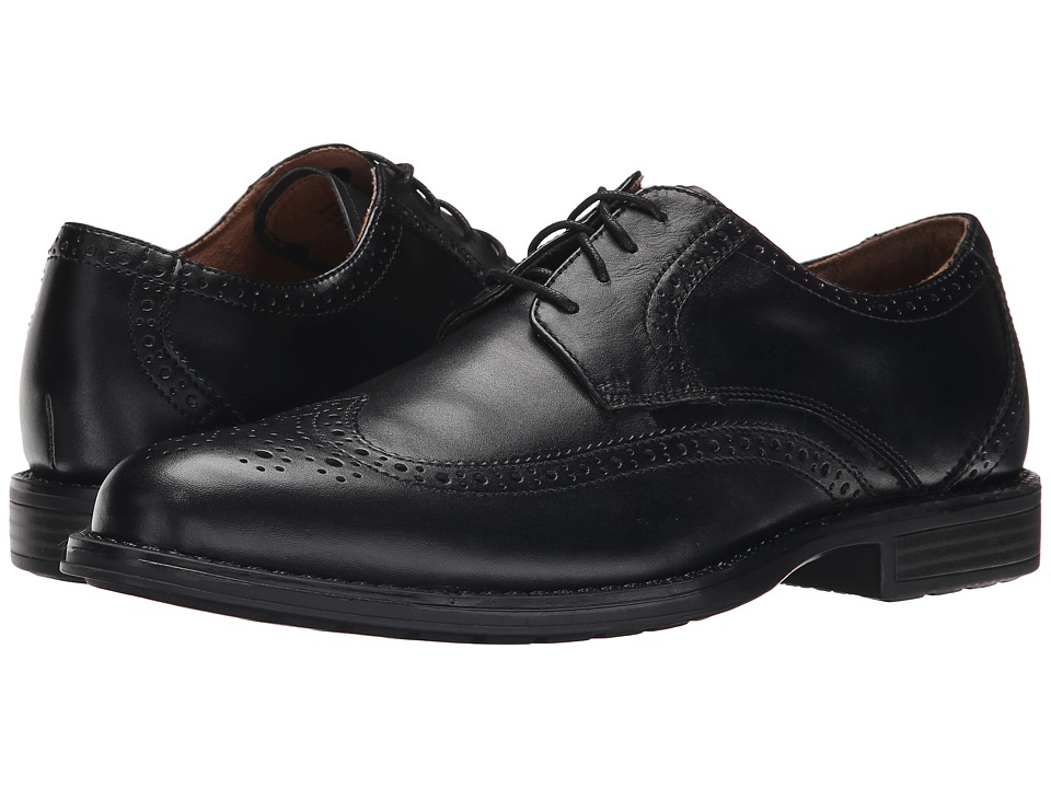 Nunn Bush - Ryan Wing Tip Oxford (Black) Men's Lace Up Wing Tip Shoes