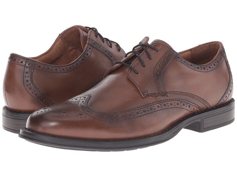 Nunn Bush - Ryan Wing Tip Oxford (Chestnut) Men's Lace Up Wing Tip Shoes