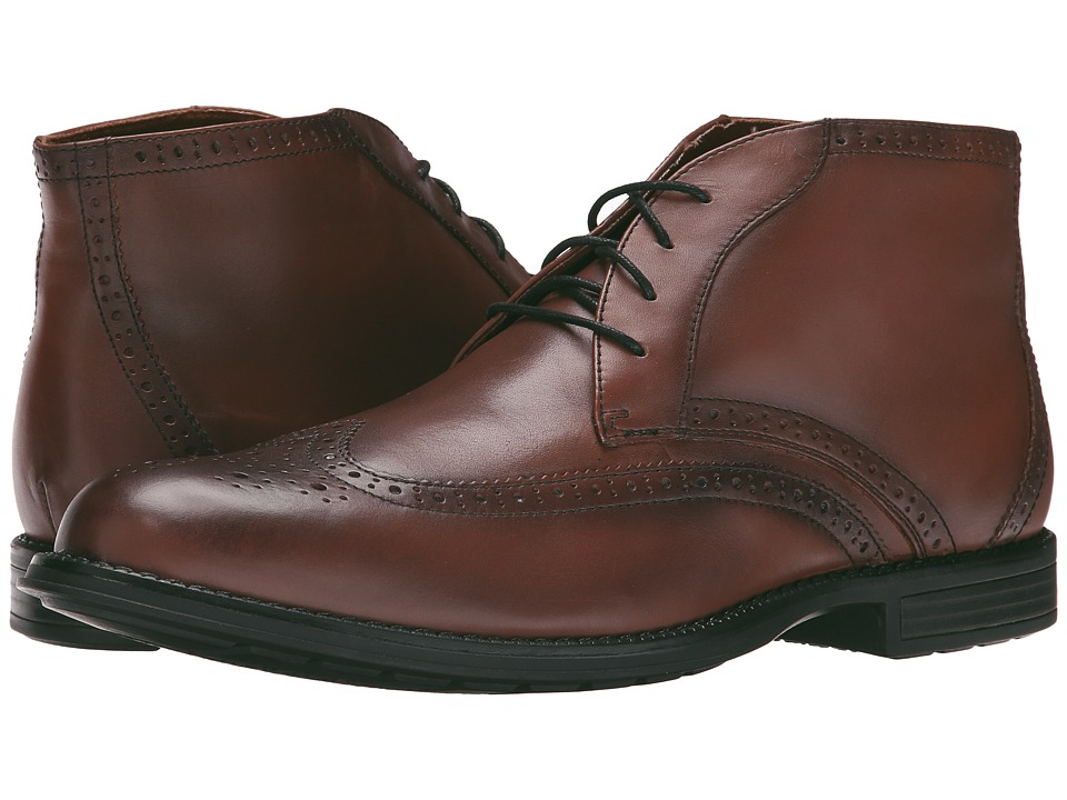 Nunn Bush - Rawson Wing Tip Chukka (Chestnut) Men's Dress Lace-up Boots