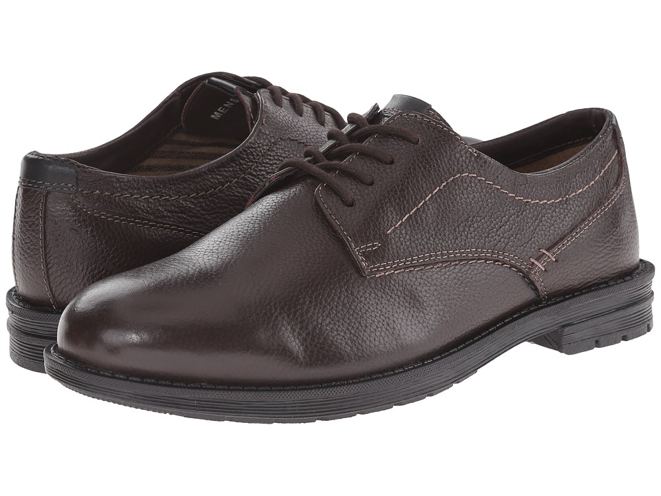Nunn Bush - Douglas Plain Toe Oxford (Dark Brown) Men's Lace up casual Shoes