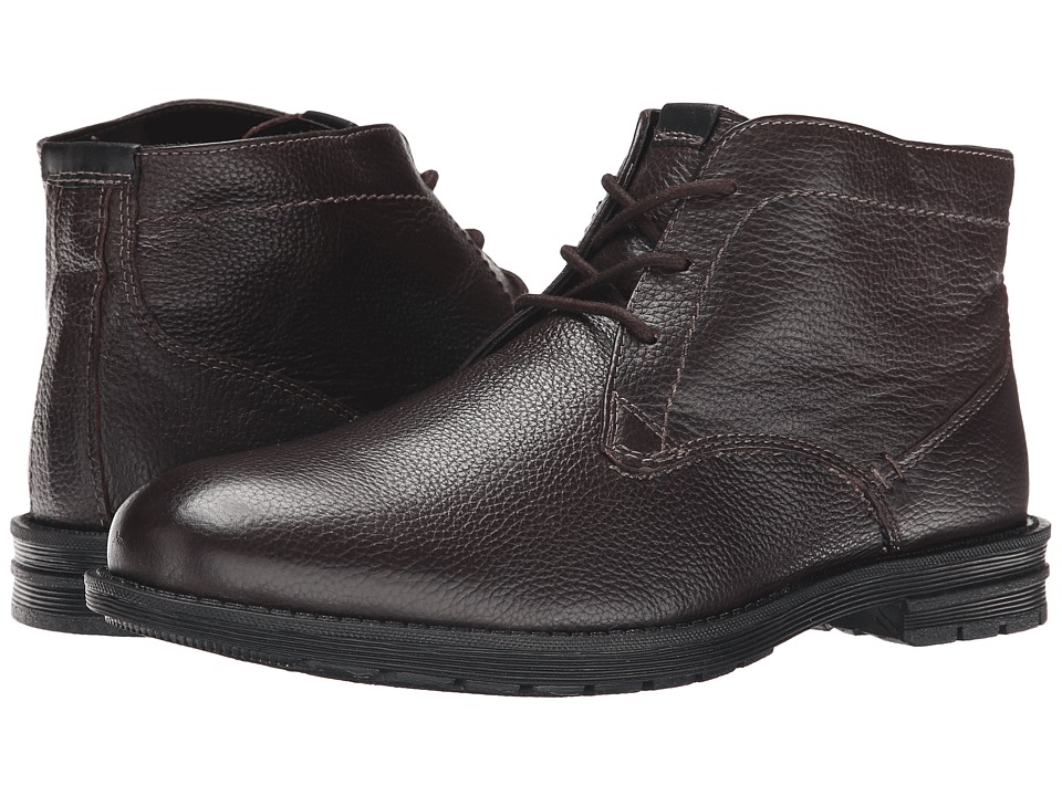 Nunn Bush - Denver Plain Toe Chukka Boot (Dark Brown) Men's Lace-up Boots